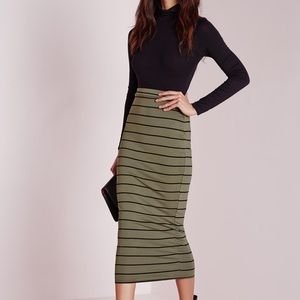 Missguided Sexy Long Midi Skirt